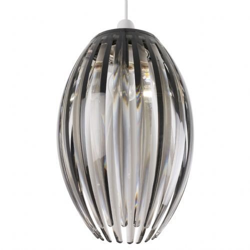 Acrylic Non Electric Pendant In A Smoke Finish NE-DORNEY-SMK